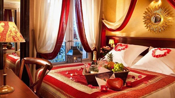 Decorate a romantic bedroom