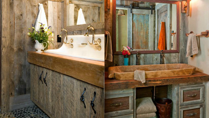 small rustic bathrooms