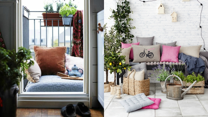 Decorate small balconies