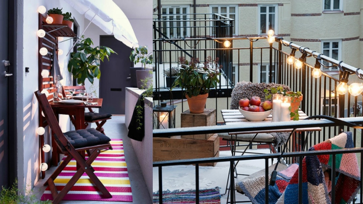 ideas to make and decorate small balconies real and origin