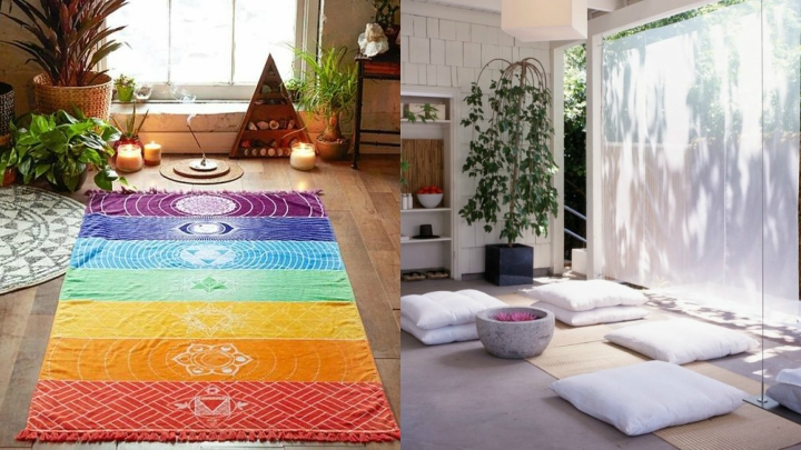 room to practice yoga at home
