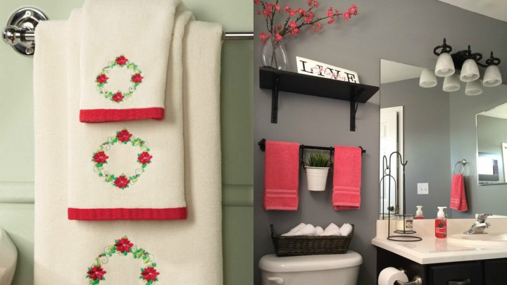 decorate the bathroom at Christmas