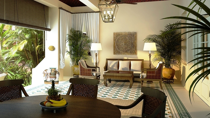 tropical colonial